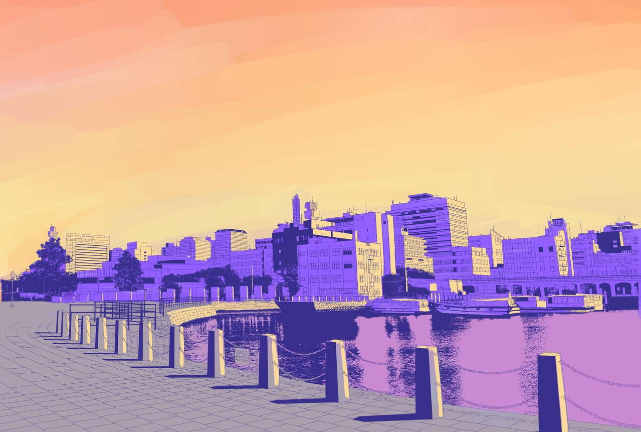 Sunset  Illust of KZR Background_Image_Contest BackgroundImageContest_Coloring_Division