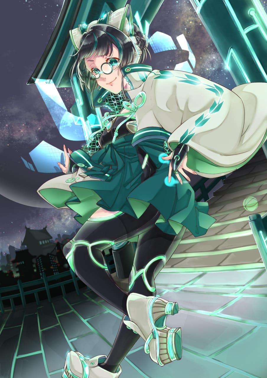 サイバー Illust of 冬白くれ November2020_Contest:Cyberpunk