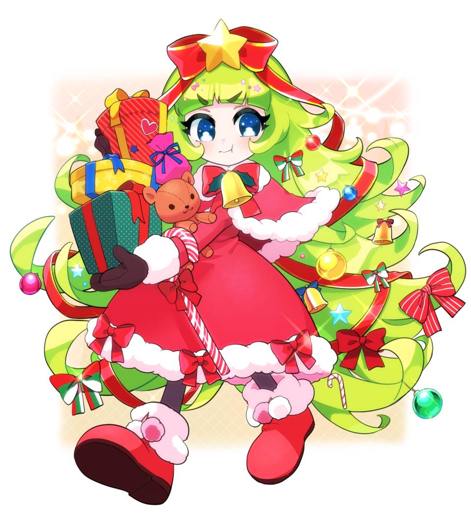 不機嫌なクリスマスツリー Illust of よよよ January2021_Contest:OC girl Christmas