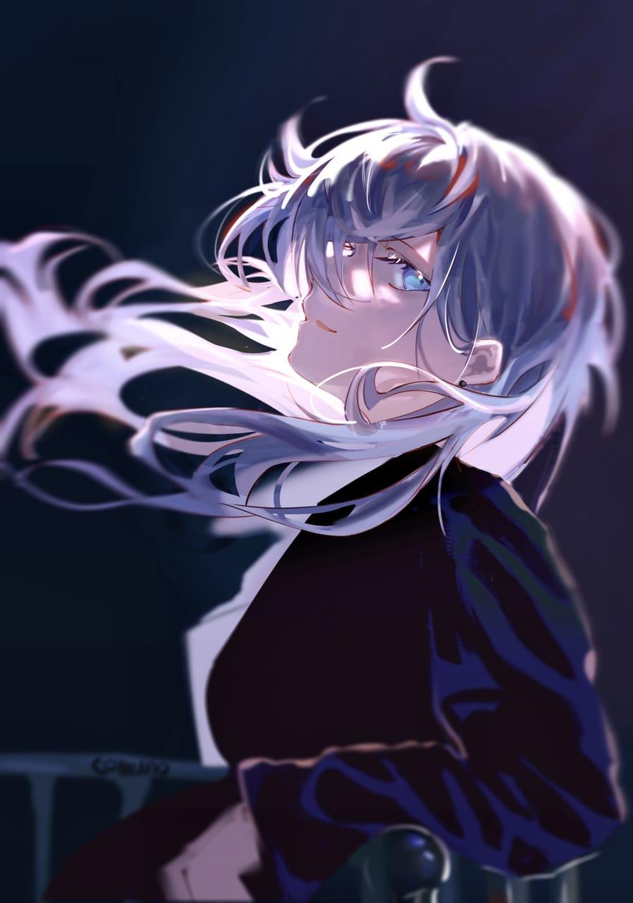 『Don't you ever give in』「諦めないでね。」 Illust of Comuno / Ningen❸ oc girl white_hair original