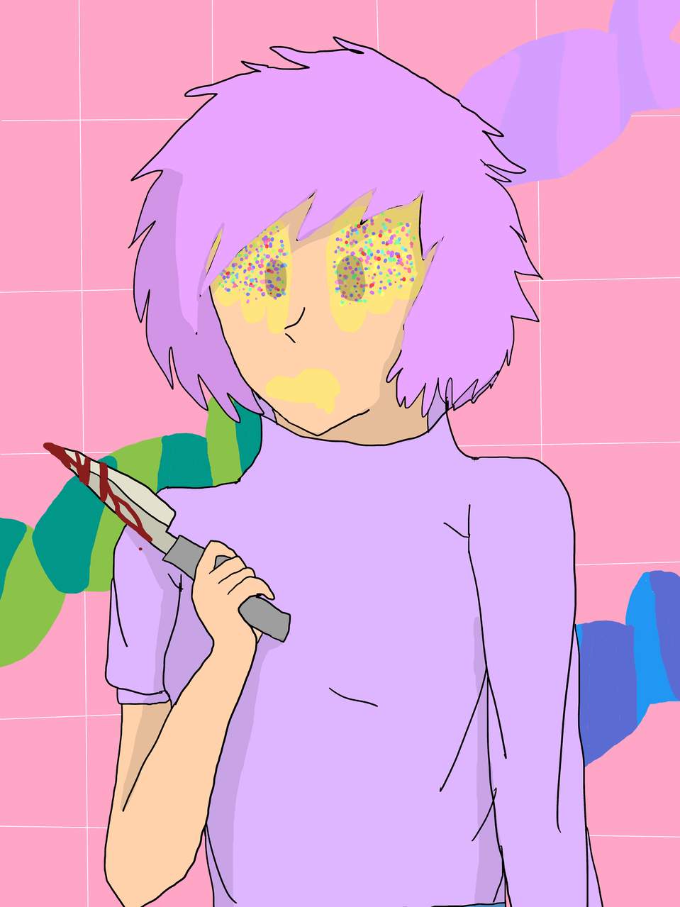 pink bubble gum girl- Illust of Lil devil/ KIttydoll mode pinkhair