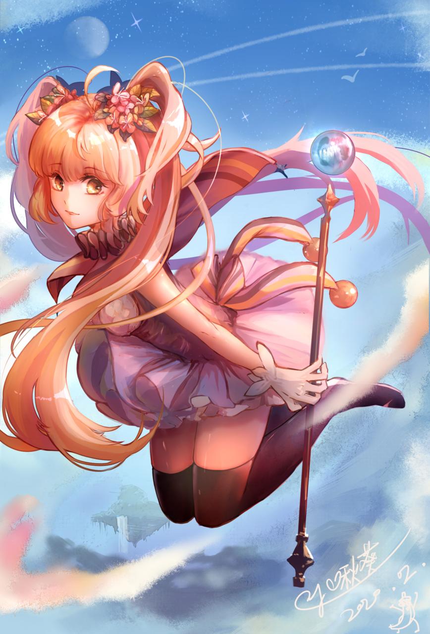 魔法少女 Illust of 啾葵 medibangpaint girl twin_ponytails 魔法少女