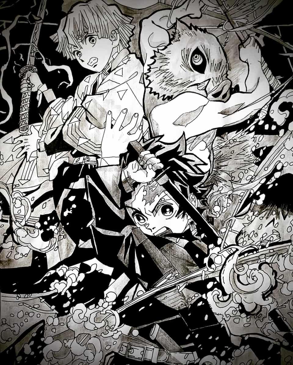 鬼滅の刃. Illust of soulmate0130 DemonSlayerFanartContest illustration fanart Artwork manga art drawing KimetsunoYaiba medibangpaint anime