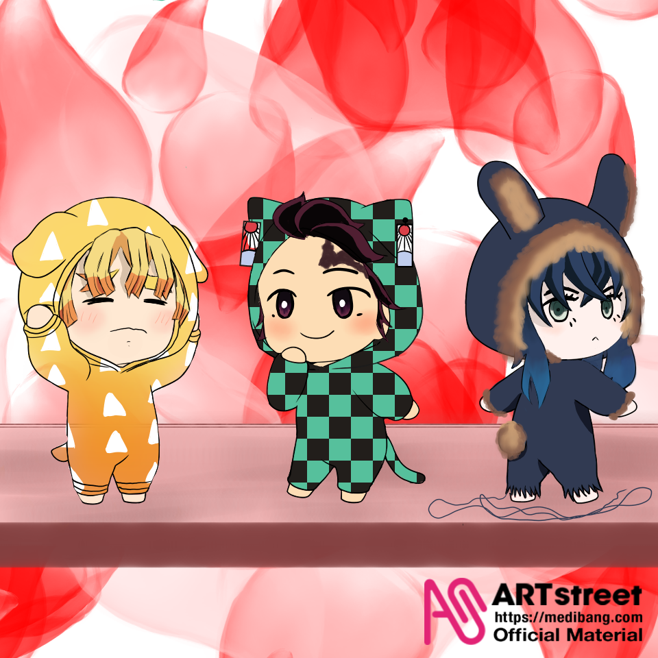 Demonslayer Trio! Illust of Quinn M. tracedrawing3rd Trace&Draw【Official】 cute