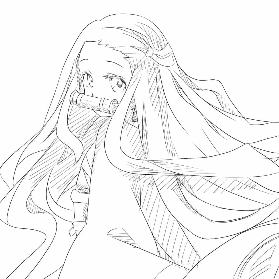 ねずこ/鬼滅の刃 Illust of nemu KamadoNezuko doodle KimetsunoYaiba