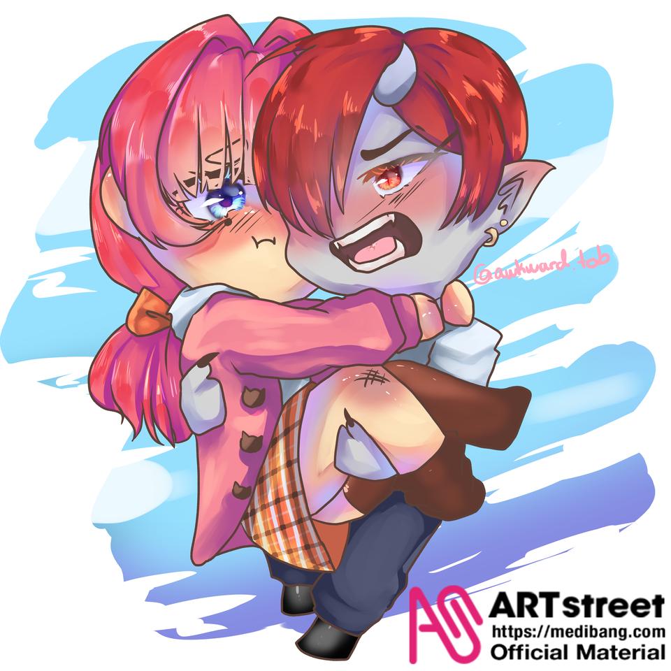 I'm too late for the contest!!!!!??? Illust of AwkwardTobi chibi art MyArt Artwork oc anime Trace&Draw【Official】 illustrations kawaii