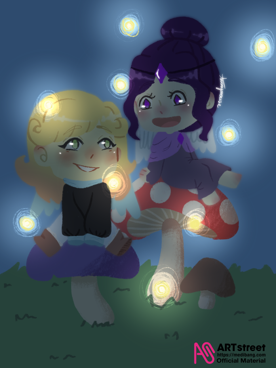 mushroom gorls v3  Illust of AnonymouseSaysHoooi tracedrawing4th Trace&Draw【Official】 mushrooms adopted