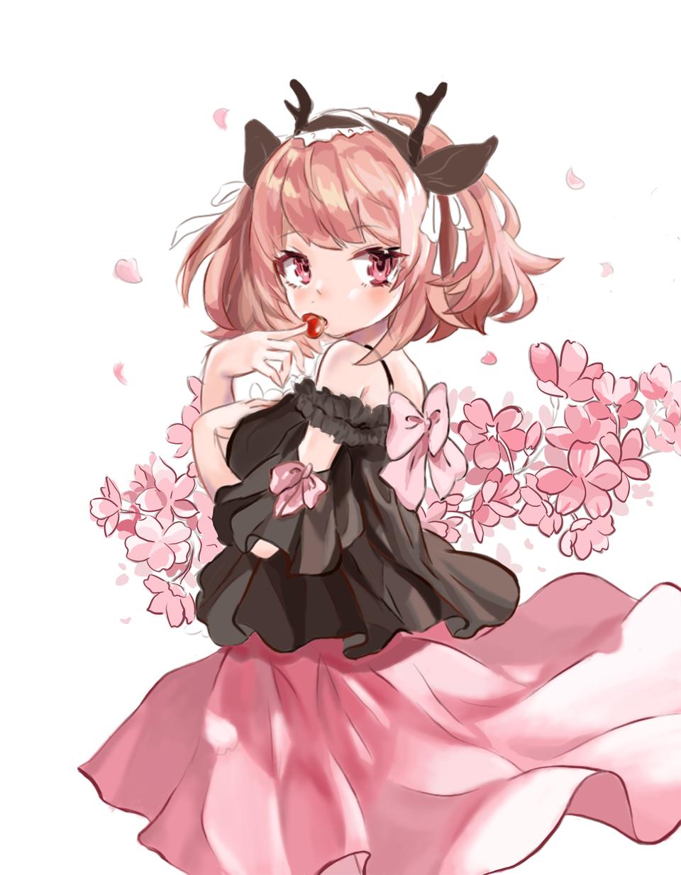 可爱 漫画  粉色 Illust of 世味茶馆 pinkhair girl sakura