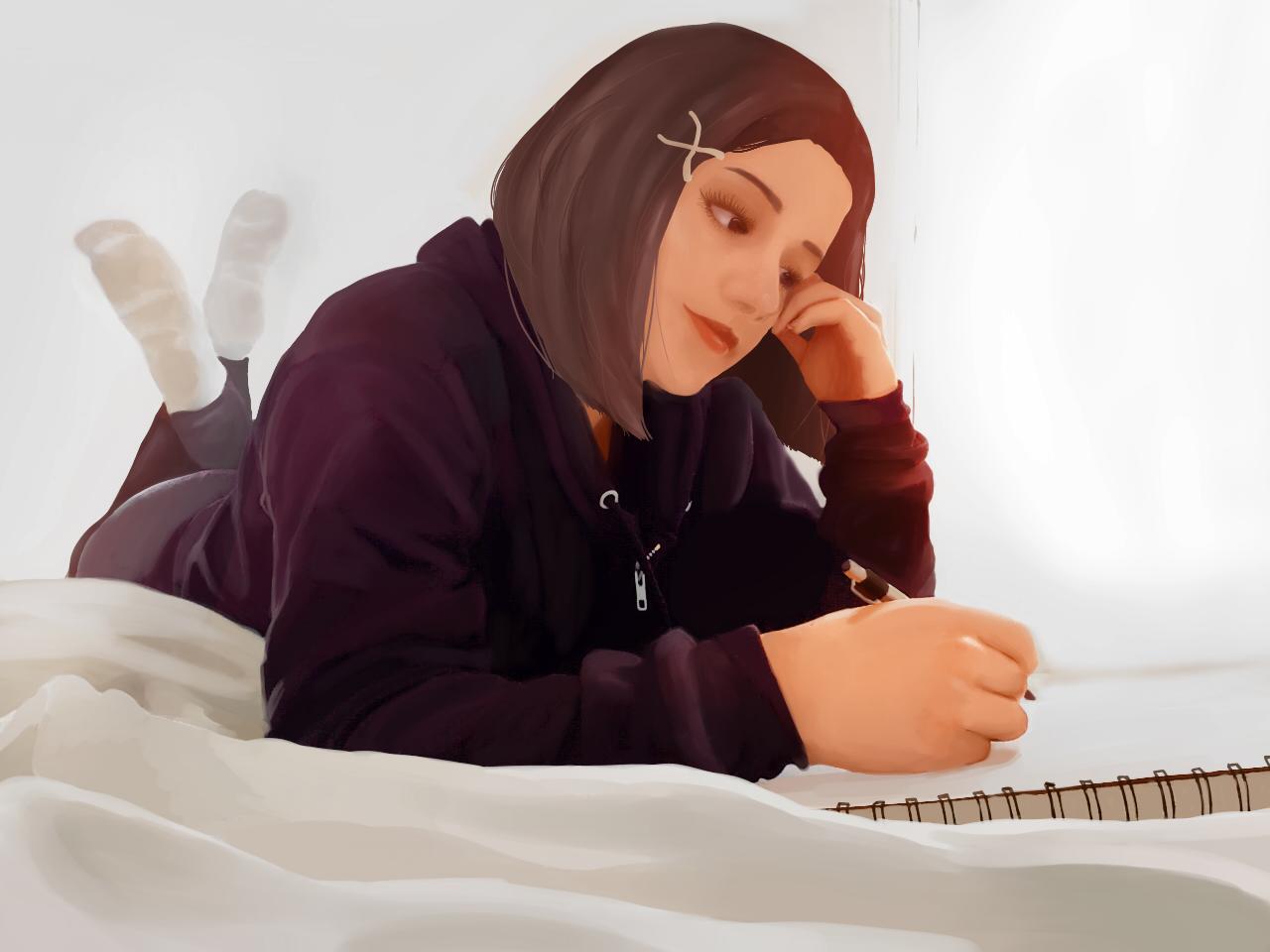 Tranquil sketching Illust of ojuahnjsd Original_Illustration_Contest