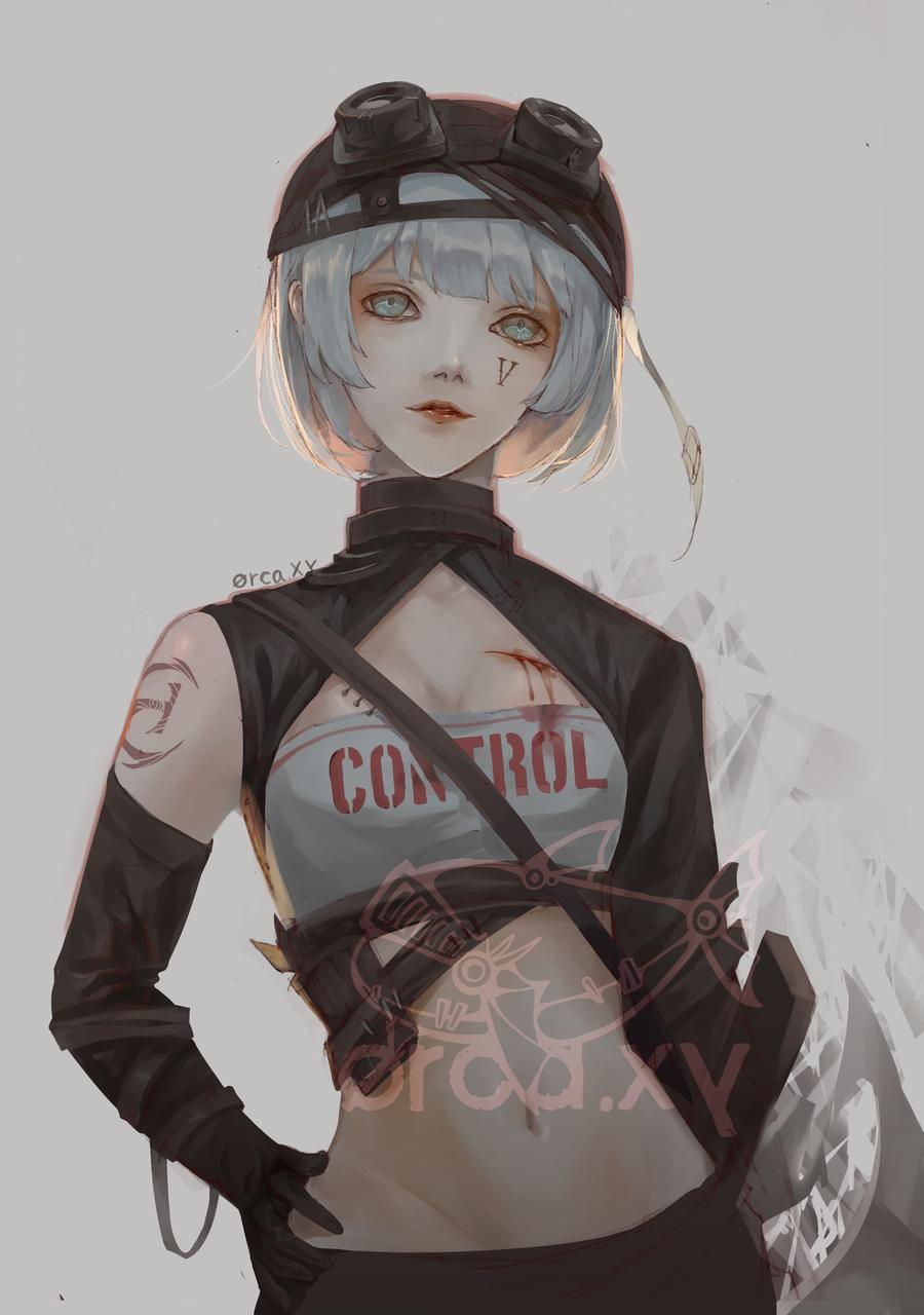 control  Illust of 雀 medibangpaint IdentityV girl 機械師 機械技師