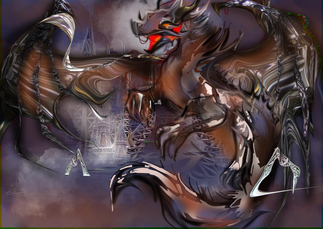 Dragonessa Dyanor Illust of Grandicelli Susanna November2020_Contest:Cyberpunk