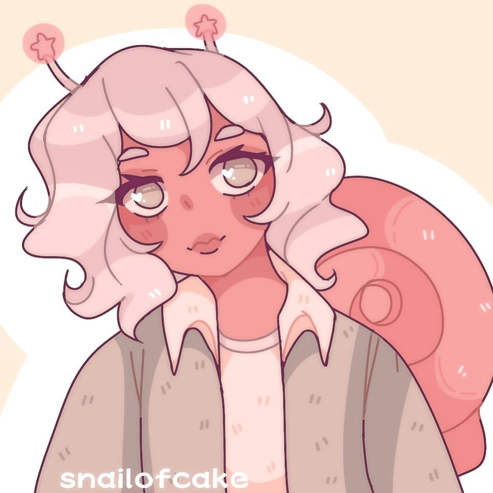 🐌snail 💫  Illust of snailofcake March2021_Creature original aesthetic art Artwork kawaii cute anime snail pastel oc