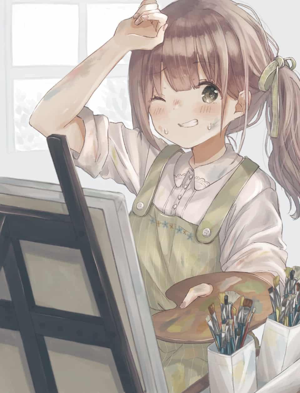 よし…完成っ Illust of Shano Pirika Original_Illustration_Contest illustration girl 絵の具