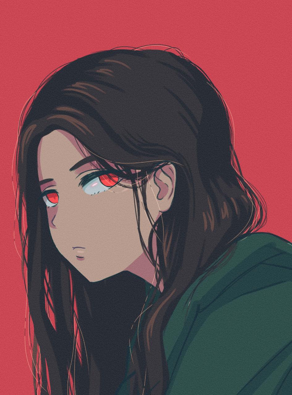 sad girl Illust of cute medibangpaint
