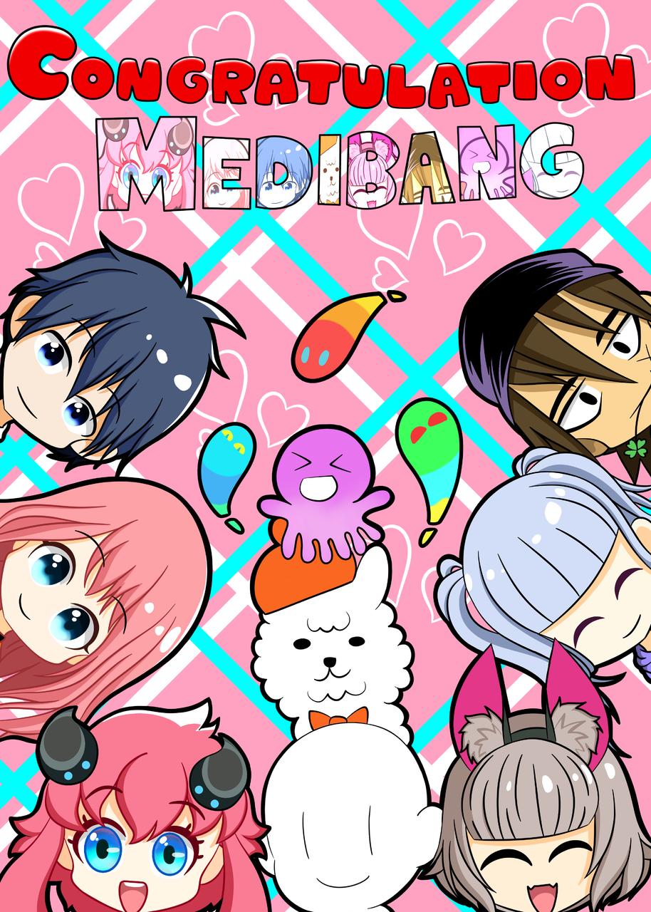 Medibang 50M celebration artwork Illust of Iren18 medibangpaint illustration medibangpaint5000 medichan chibi Fingerpaint