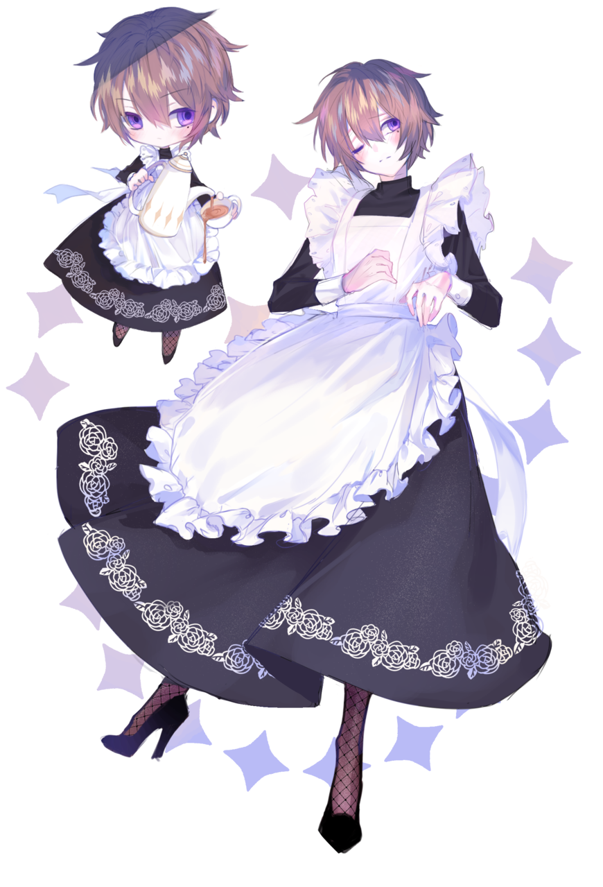 OC Maid boy Illust of R E O N January2021_Contest:OC sketch Uke maid boy cute art drawing Artwork medibangpaint anime
