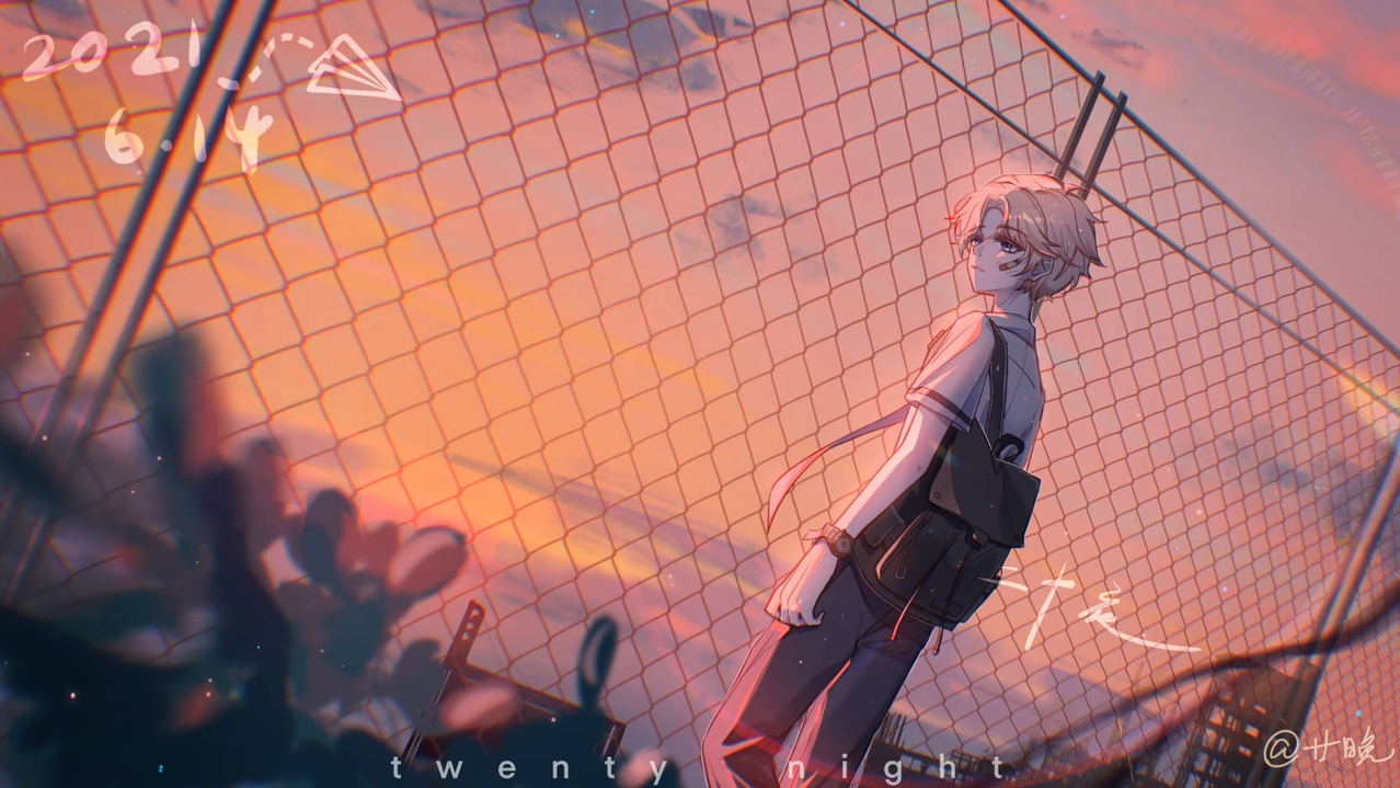 my birthday Illust of 廿晚 medibangpaint illustration 性转 boy original 自设 美少年
