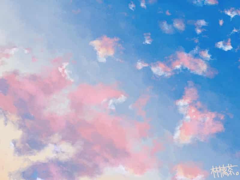 焼け空 Illust of 林檎茶。 clouds sky original scenery
