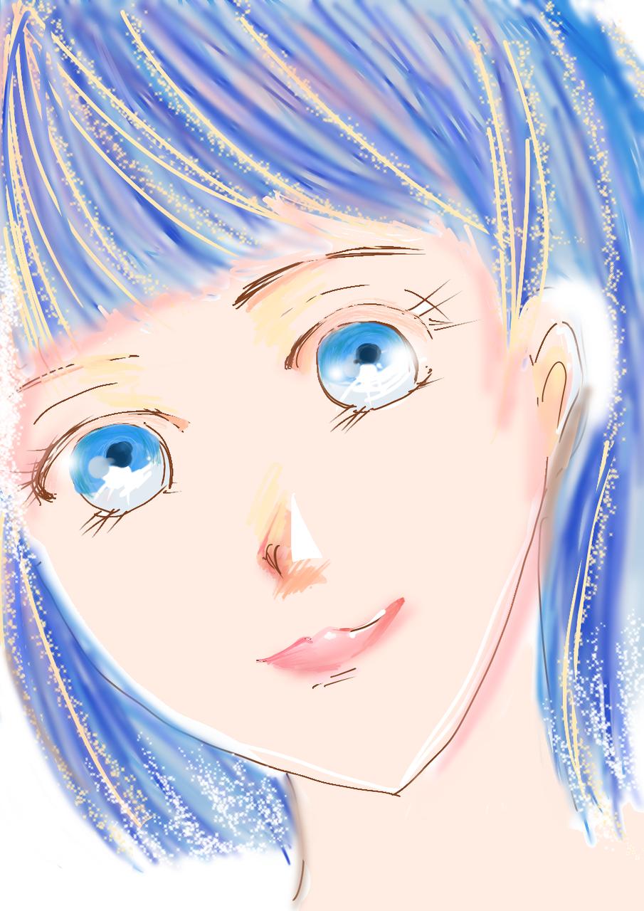 デジタル練習その2 Illust of おかかうめ medibangpaint original girl practice blue digital