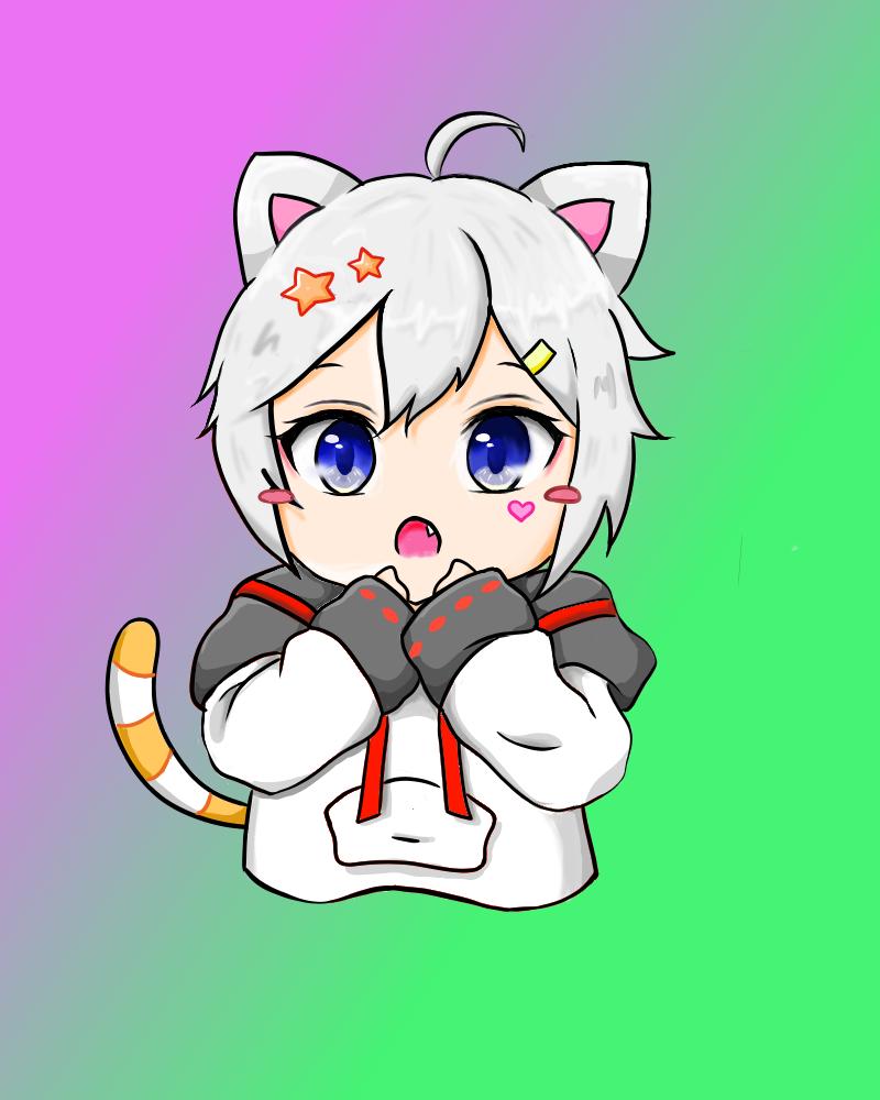 kitty Illust of Sammy 子子 June2021_Anthropomorphism medibangpaint Comics anime