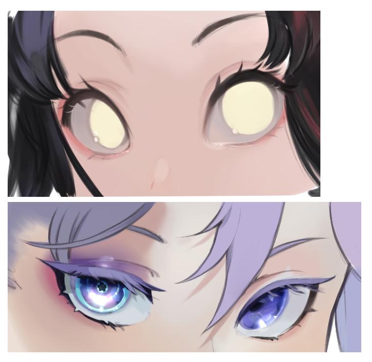 eye practice ! Illust of FortyTwoStars eyes painting eyepainting animeeyes medibangpaint girleyes