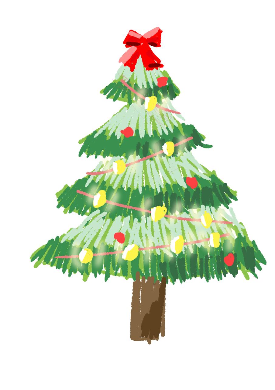 圣诞树🎄 Illust of 梧桐灯 medibangpaint