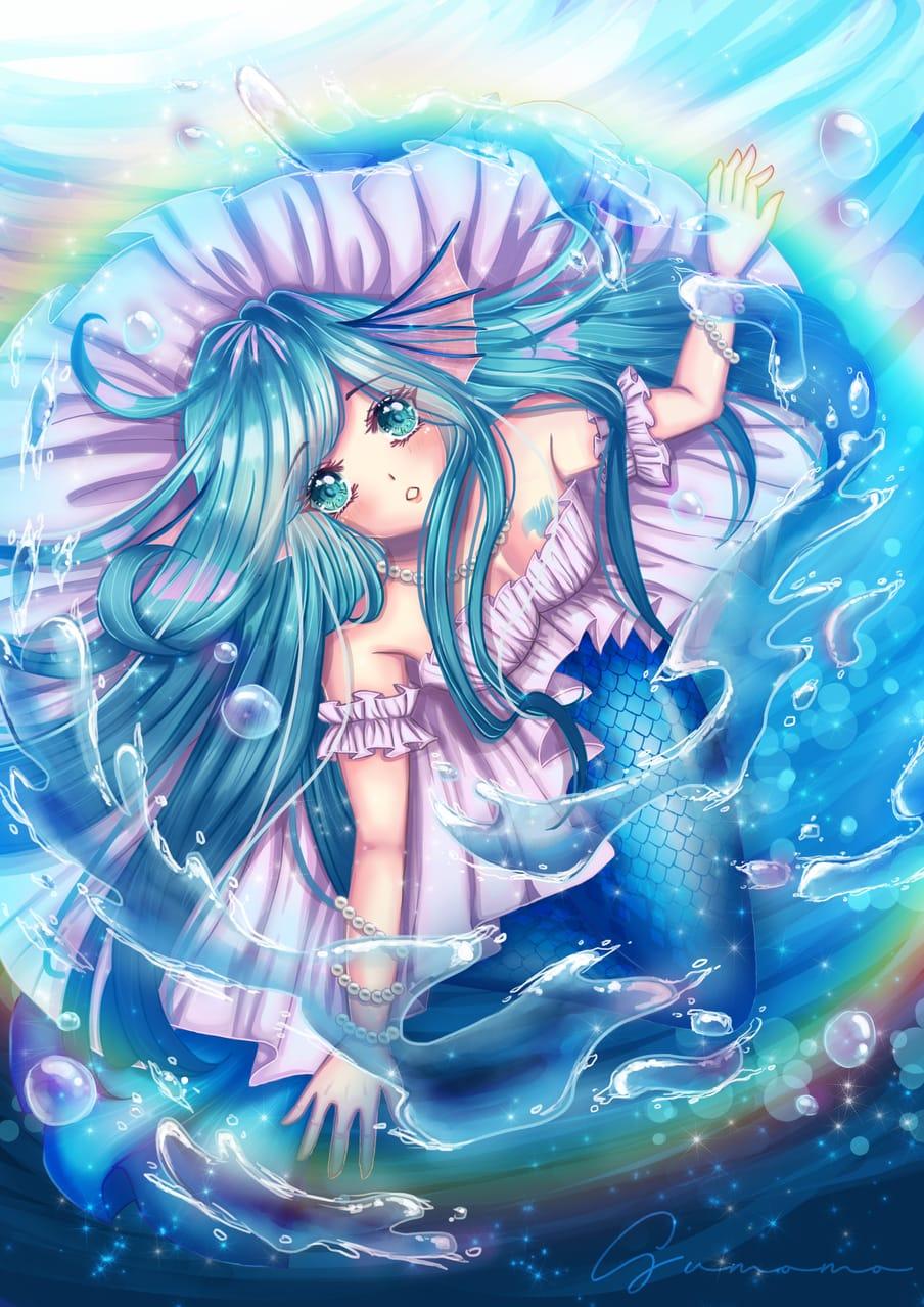 My Oc ~ Celia Illust of Sumomo January2021_Contest:OC cute illustration originalart mermaid digital art cutegirl animegirl oc
