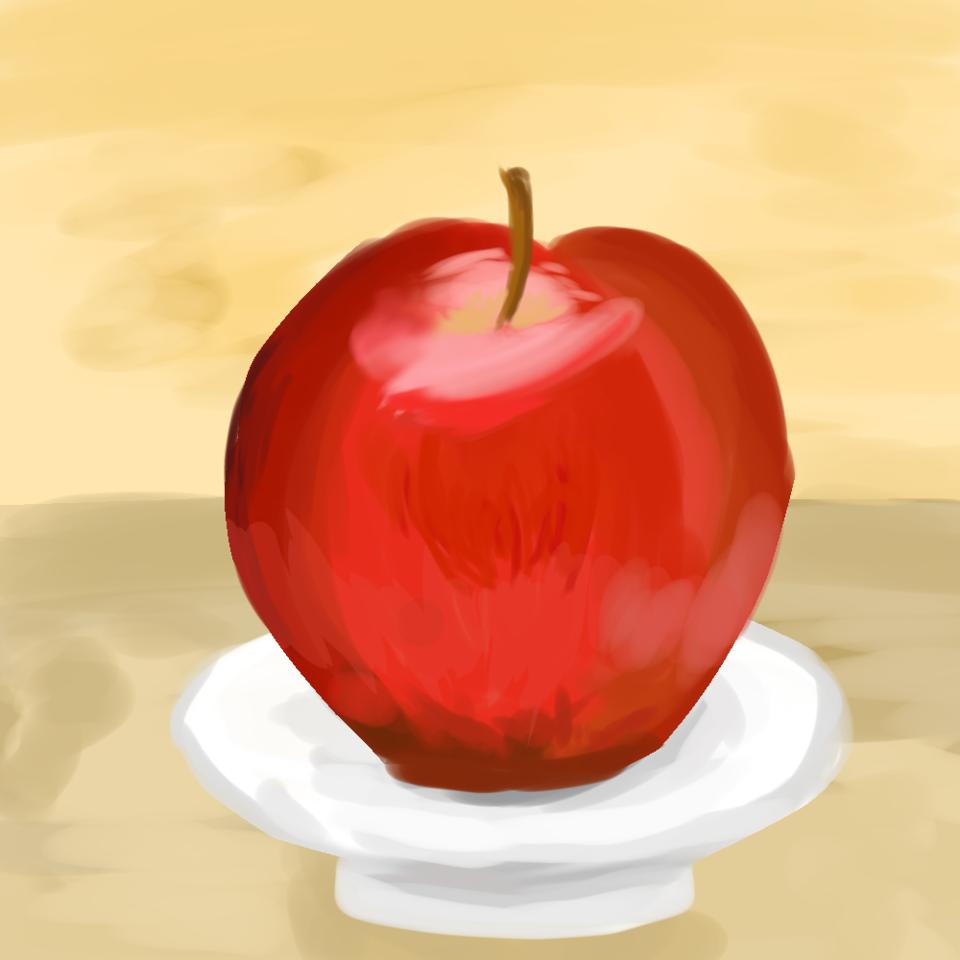 りんご Illust of 望月にこ☆ apple アイビスペイント