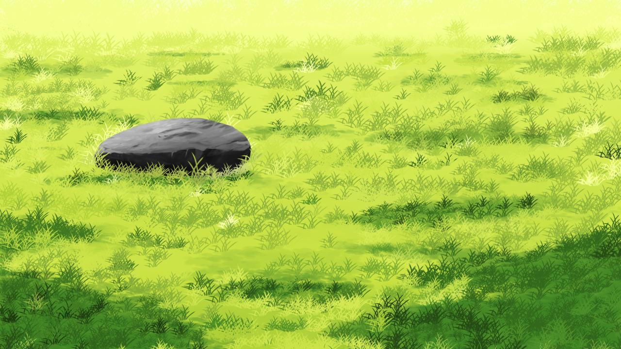 초원(草原) Illust of 그레이워즈 rock background 초원 배경화면 wallpaper 岩 바위