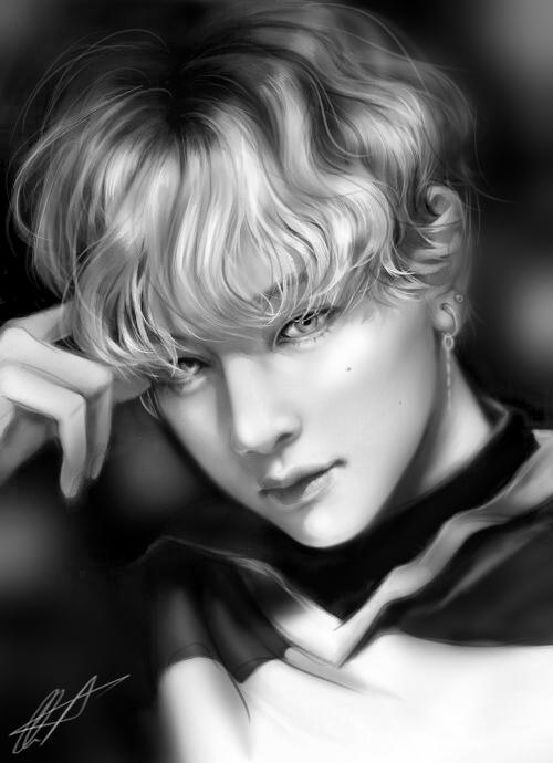 Taehyung - BTS Illust of Kl0oe_ medibangpaint