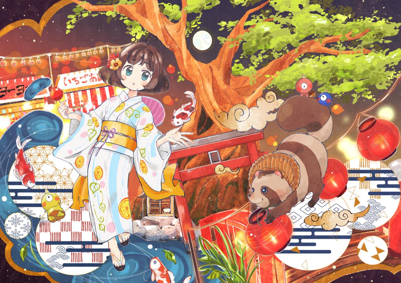 不可思議夜光 Illust of こがね はな Kyoto_Award2020_illustration