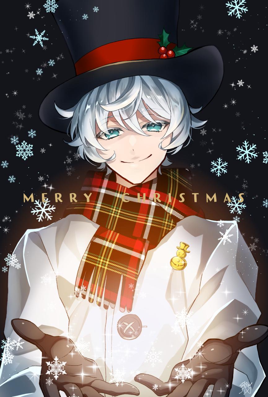 Merry Christmas Illust of 幾 original マフラー snow medibangpaint 帽子 Christmas boy