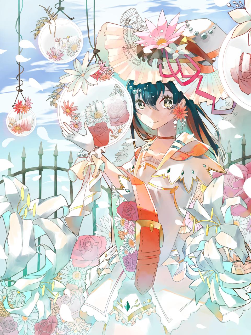 花と魔女 Illust of かなと April2021_Flower witch