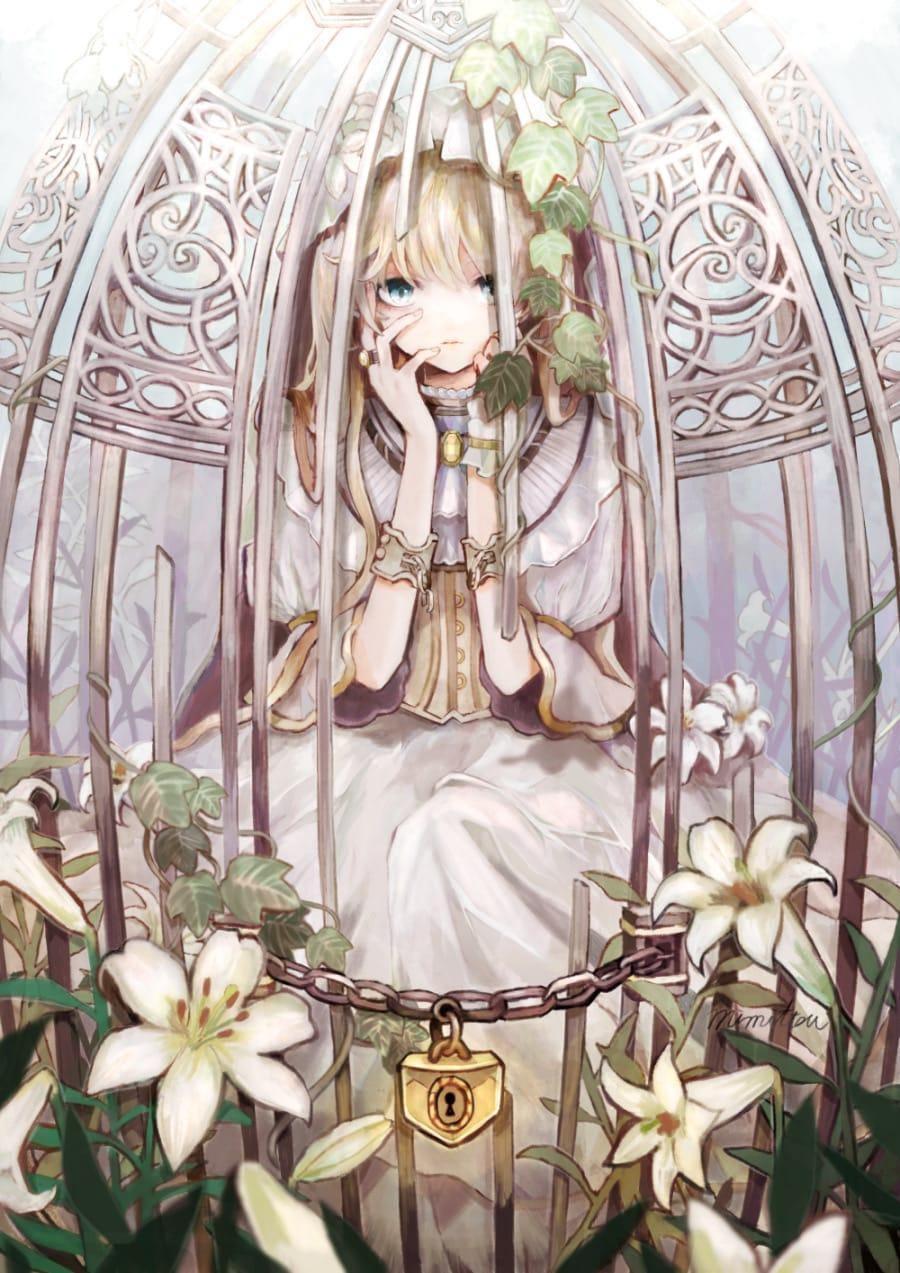 鍵 Illust of みみっつ original girl illustration