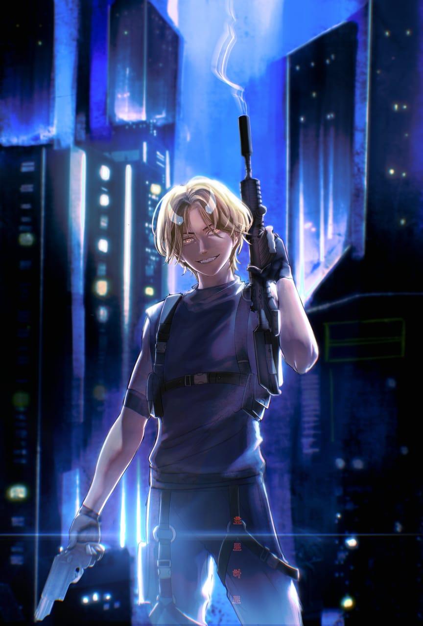 Adam:「プロジェクト魔界」 Illust of horoharo boy illustration horoharo techwear oc original 2021 cyberpunk
