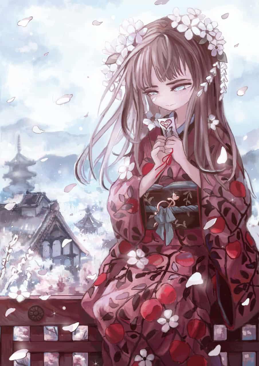 りんご Illust of kanon Kyoto_Award2020_illustration girl Japanese_style kimono