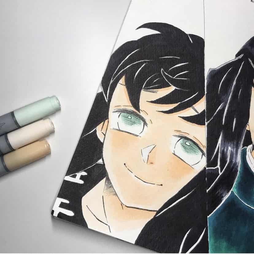 時透 有一郎 Illust of misaki DemonSlayerFanartContest Twins Copic 鬼滅の刃イラストコンテスト KimetsunoYaiba illustration 有一郎 鬼滅の刃模写 時透有一郎