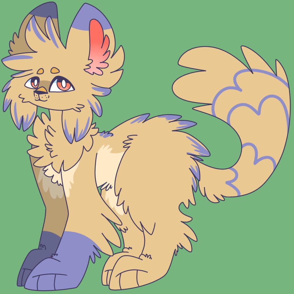 Sam Illust of ❄ᴀꜱʜ❄ medibangpaint cat floof adopt cute furry
