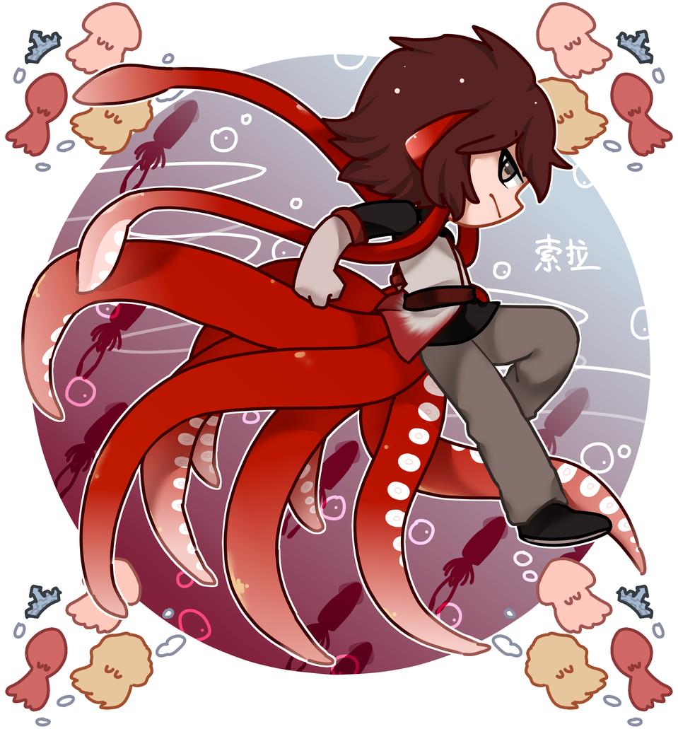 【原创人物】美洲大赤鱿