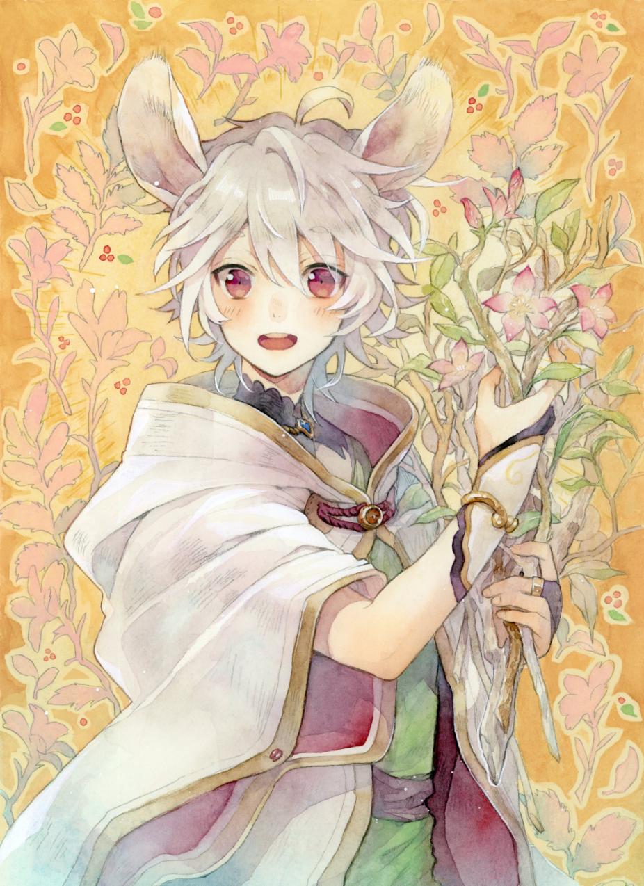 🌸🐁 Illust of とんとろ🐱tontoro original ケモミミ boy 透明水彩