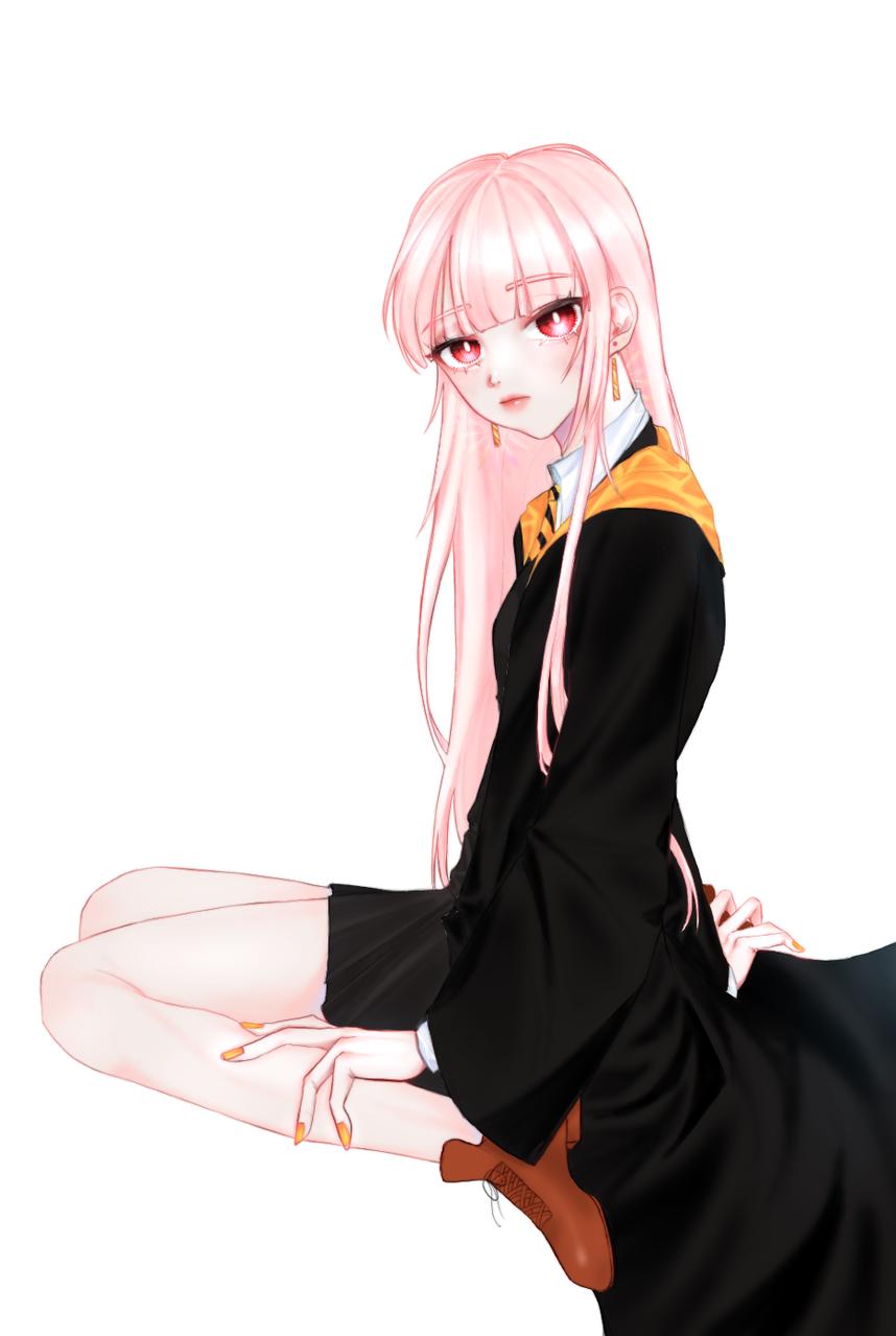 마지막 전신 Illust of 주ju medibangpaint pinkhair