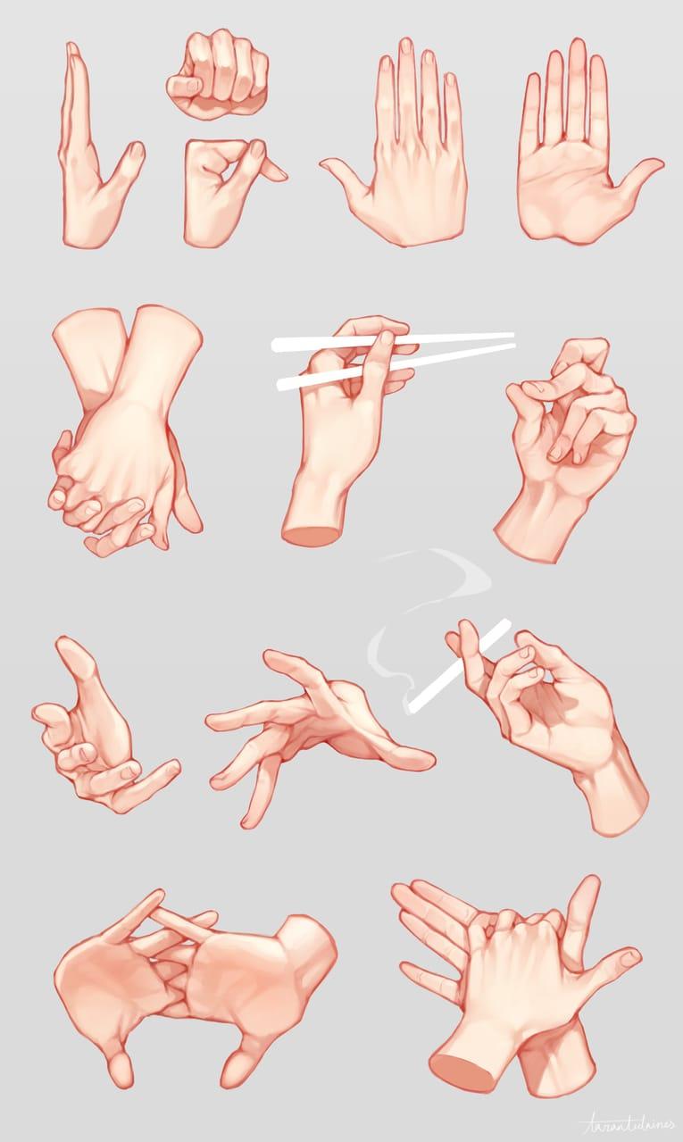 手部練習 Illust of Tarantulaines 作畫資料 practice hand