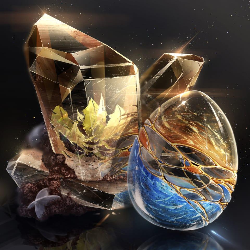トパーズ Illust of cluseller 鉱物 宝石 鉱石 クリスタル