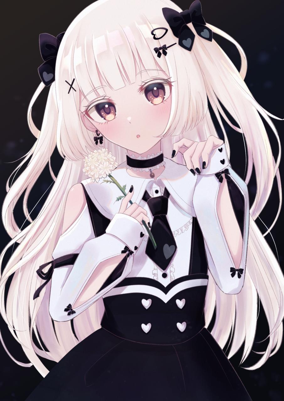 オリキャラシャルムちゃん❤︎ Illust of じゅにねう January2021_Contest:OC white_hair girl original