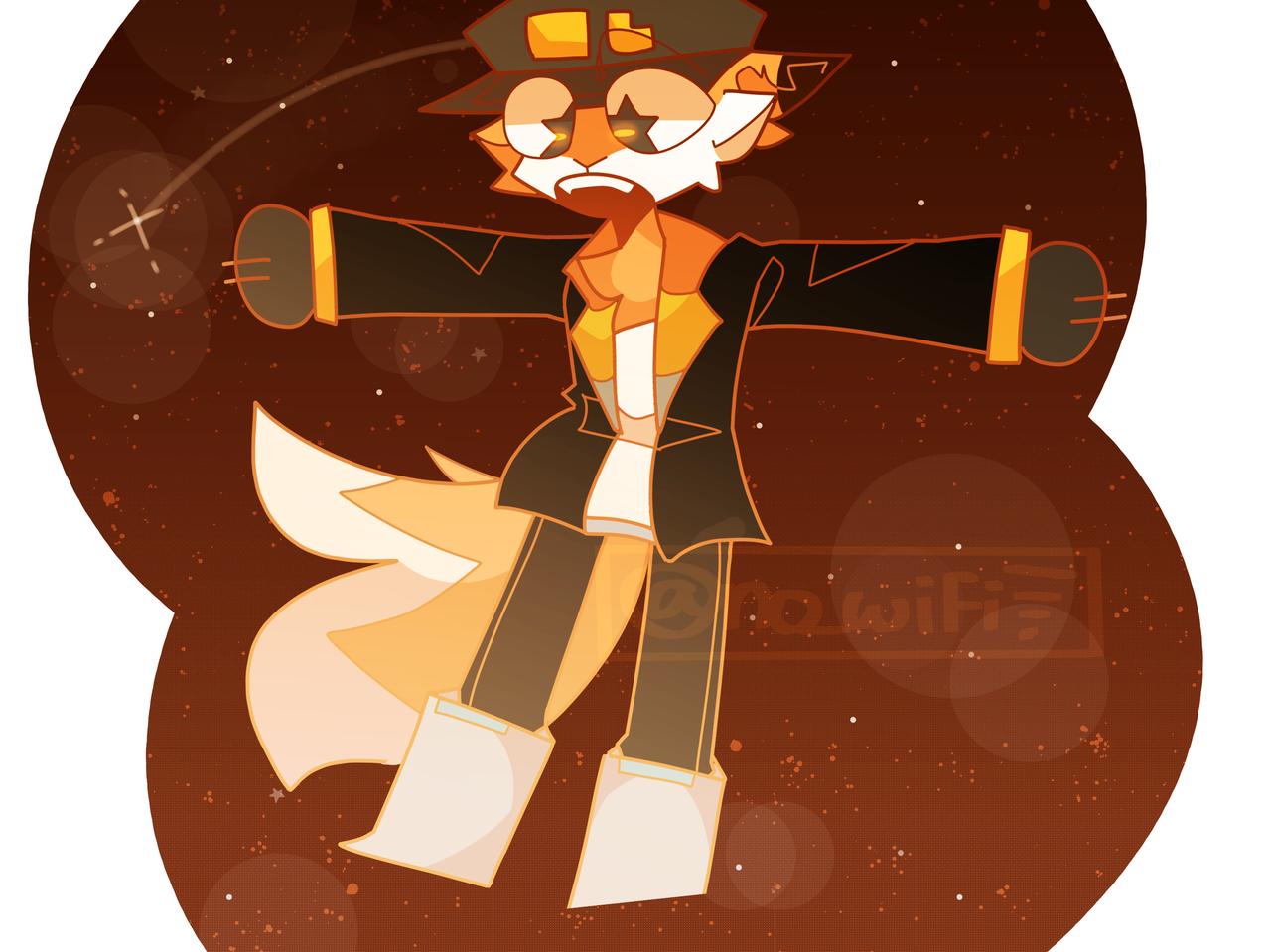 Dumb Ideas ft. Fundy! Illust of RiiRen illustration dsmp fanart uhh furry medibangpaint space fundy mcyt orange