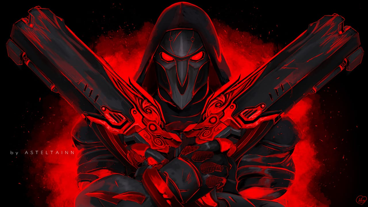 Reaper Illust of asteltainn Overwatch fanart reaper
