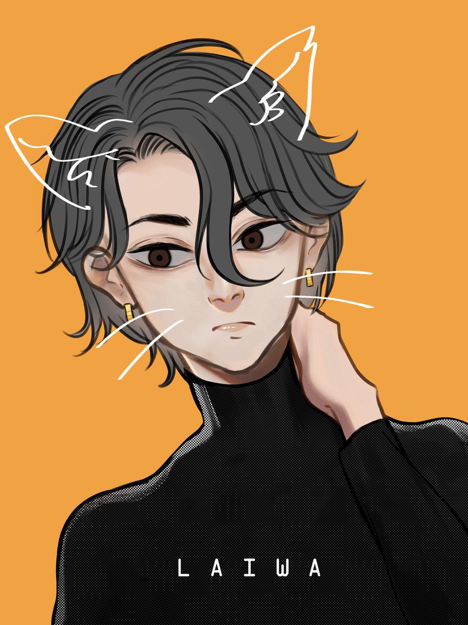 Haruko Illust of Laiwa MyIdealHusbando MyIdealWaifu_MyIdealHusbandoContest illustration cat orginalcharacter boy original drawing oc cute