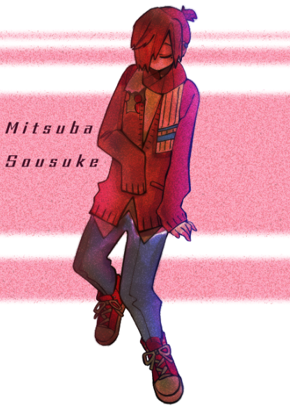 mitsuba sousuke fanart Illust of Anna Loren MyIdealWaifu_MyIdealHusbandoContest MyIdealHusbando digital fanart mitsubasousuke pinkhair pink jshk Toilet-boundHanako-kun