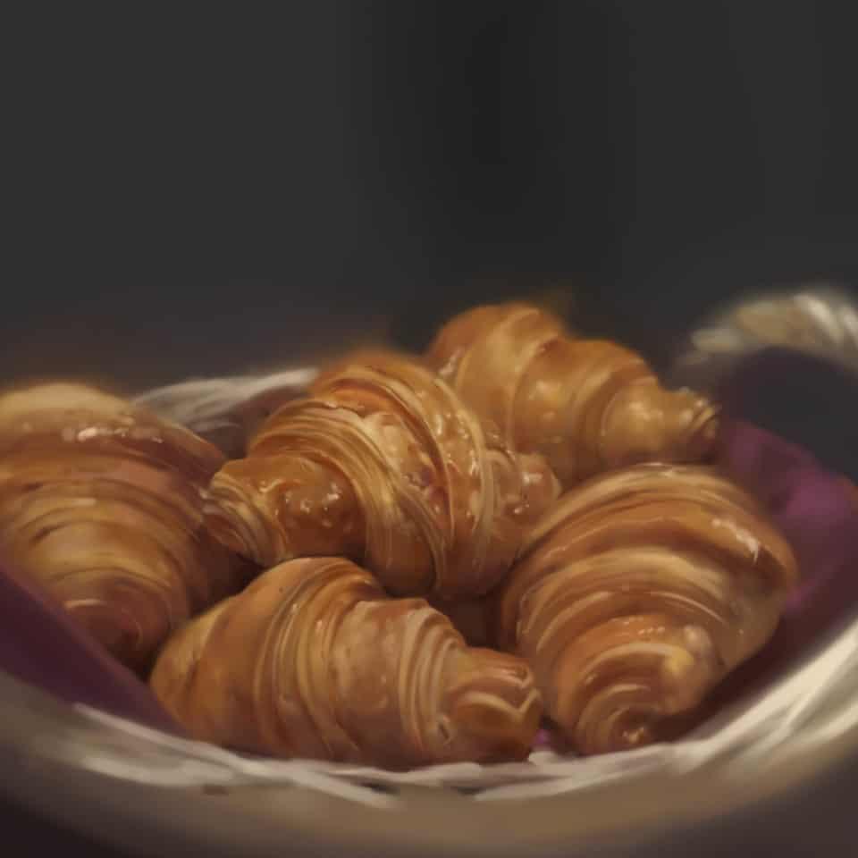 Croissant Illust of Orobou October2020_Contest:Food food croissant