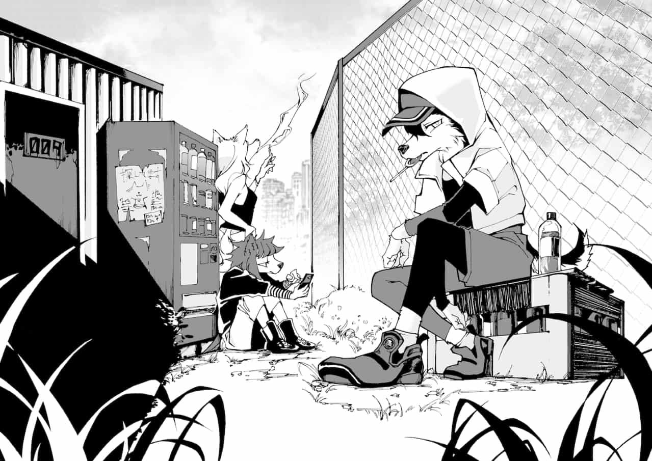 無題 Illust of 田黒類 blackandwhite 獣人 original
